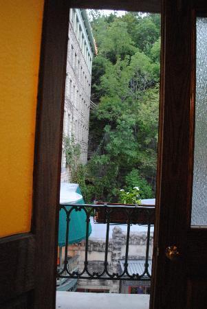 Flatiron Flats: Front balcony door