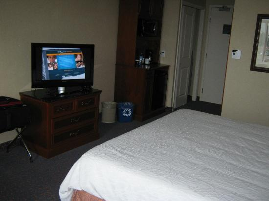 Hilton Garden Inn West Edmonton: bed and tv