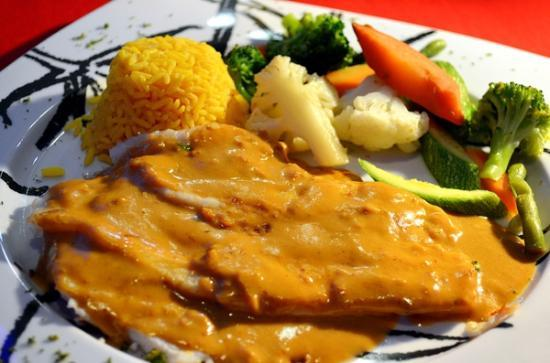 Kool Fish Restaurant: Diabla Style Fish Filet, Covered with Spicy Chilly Cream