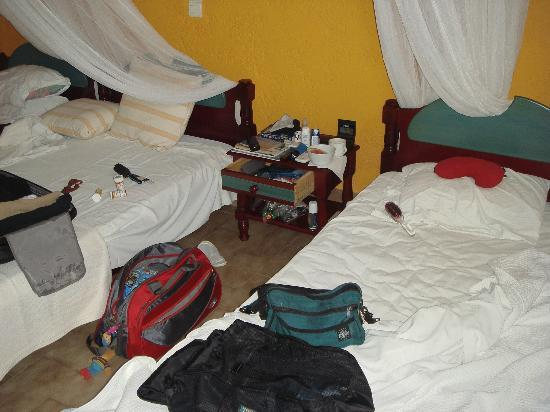 Naxos Beach Hotel: our messy beds