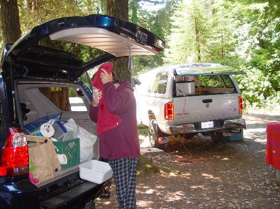 Redwoods River Resort & Campground: campsite view fro RV