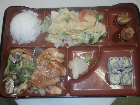 Yama Japanese Restaurant: Lunch BOX w-Hibachi Salmon