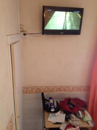 Hotel Le Parisien : Coin Tv