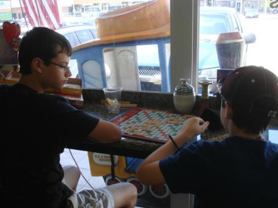 Brothers Bakery & Cafe: Games to play while you wait and/or eat!
