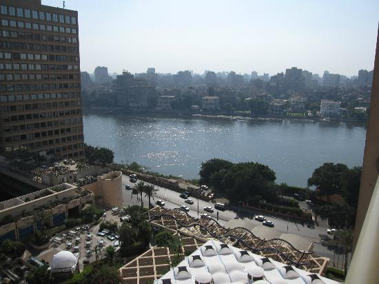 Conrad Cairo: View of the Nile River from the balcony
