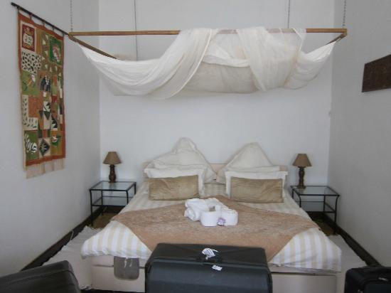 Central African Wilderness Safaris: The gorgeous bedroom with mosquito netting