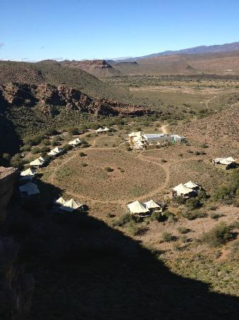 Sanbona Wildlife Reserve - Tilney Manor, Dwyka Tented Lodge, Gondwana Lodge: View from above