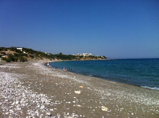 Avra Beach Studios: from the beach towards east