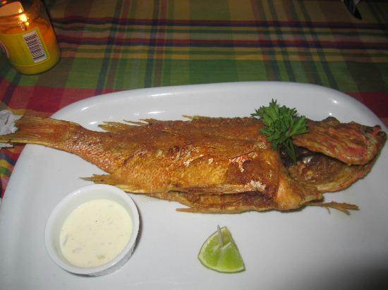 Papa Zouk: Fried snapper