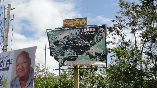 Rainforest Ocean View Inn: Anuncio de promocion de la hacienda, igual es el hotel