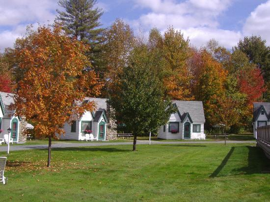 ‪‪Hearthside Village Cottage Motel‬: Fall Foliage
