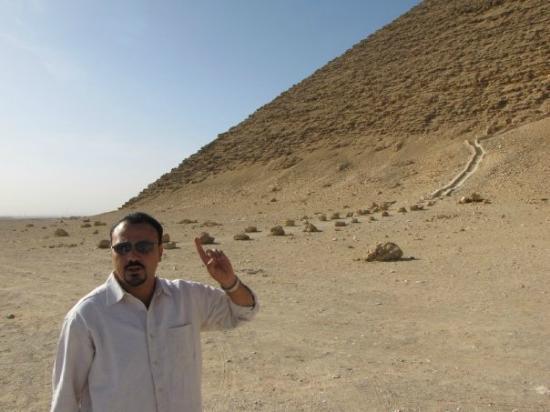 Ayman Ahmed - Tour Guide: At Dahshur Red Pyramid.