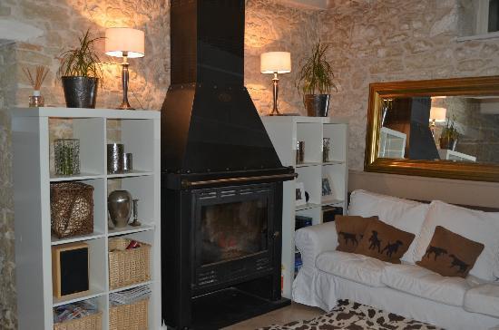 Le Moulin Pastelier: Guest lounge area