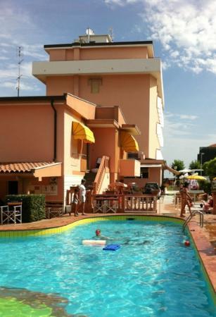 Hotel Albatros: piscine à l'arrière de l'hôtel