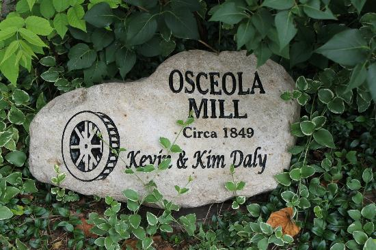 Osceola Mill Restaurant, B&B and Cabins: Date du moulin