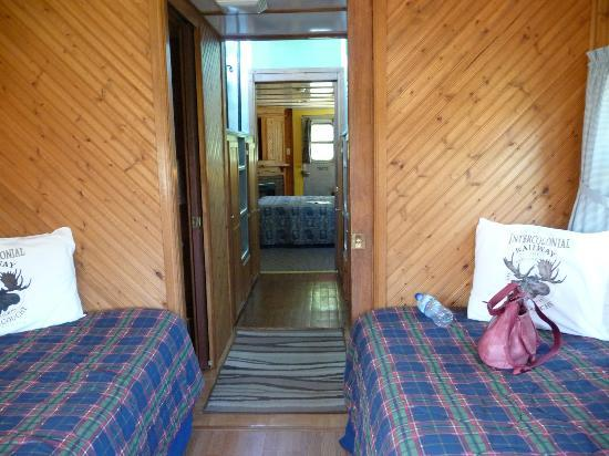 Train Station Inn: Two rooms, one with twins, separated by the washroom,shower, cupola sitting area above