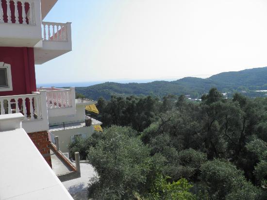 Hotel Parga Princess: Veiw from the balcony