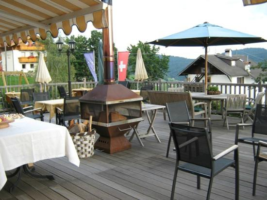Hotel Chalet Mirabell: Terrasse