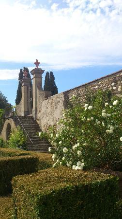 Principe Corsini - Villa le Corti: Vackra trappan till huvudbyggnaden, Villan