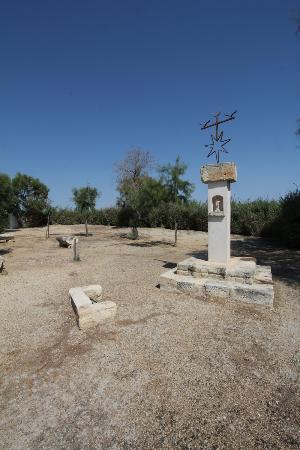 Hotel de Cacharel: La Vierge dans le jardin sud
