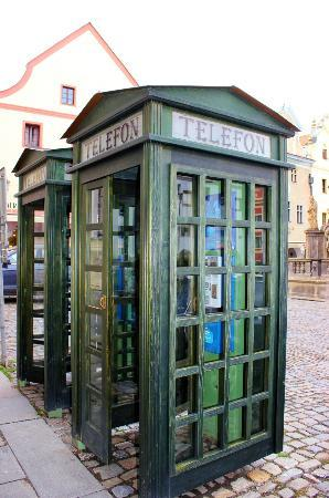 An old fashioned telephone booth - Picture of Historic
