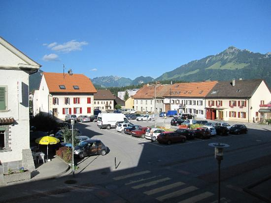 Bulle, Switzerland: View from an apartment room