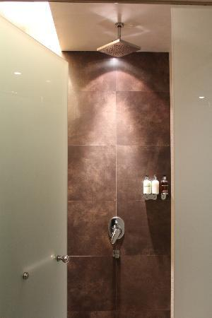 Kempinski Residences & Suites, Doha: Gym and pool area's shower