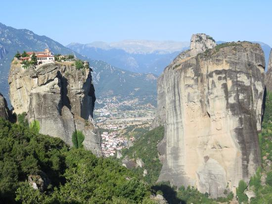 The view from St. Stephens Monastery, Meteora - Picture ...