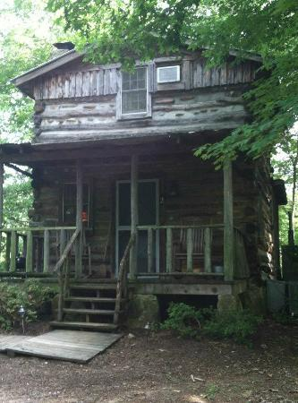 Pilot Knob Inn: View of our Tobacco Cabin - 'Front Door'