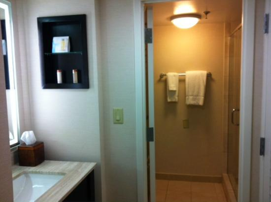 Hilton Orlando Buena Vista Palace Disney Springs: Sink area is separate from the shower area