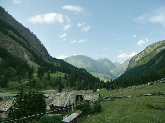 Hotel Herbetet: panorama dalla camera verso Cogne