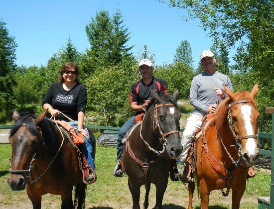 Mount St. Helens Adventures Tours Eco-Park and Tent & Breakfast : just finishing a great 90 minute horseback ride!