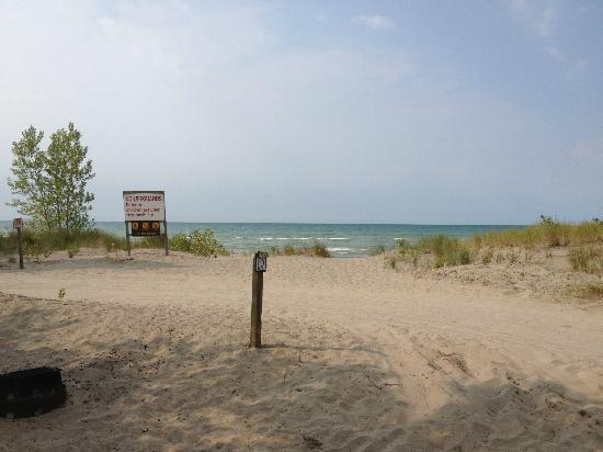Long Point Provincial Campground: Campsite