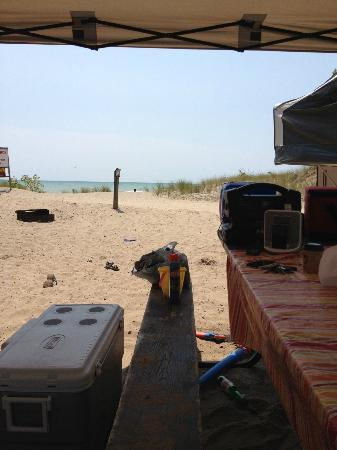 Long Point Provincial Campground: View from our site