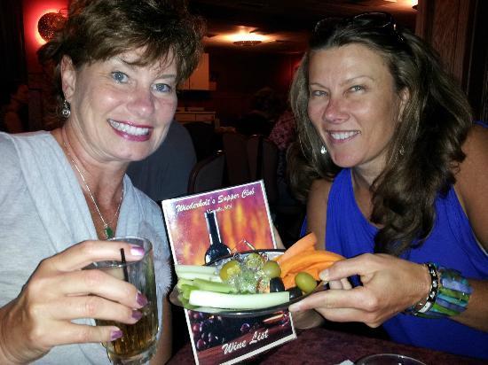 WIEDERHOLT'S SUPPER CLUB: Us enjoying our night