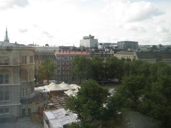 Scandic Norra Bantorget: Aussicht aus unserem Fenster