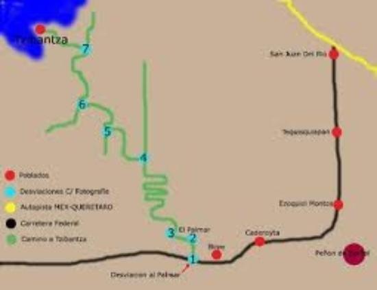 Cadereyta de Montes, México: mapa: como llegar