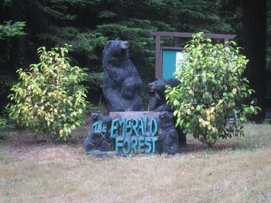 Emerald Forest Cabins & RV: Campsite Entrance