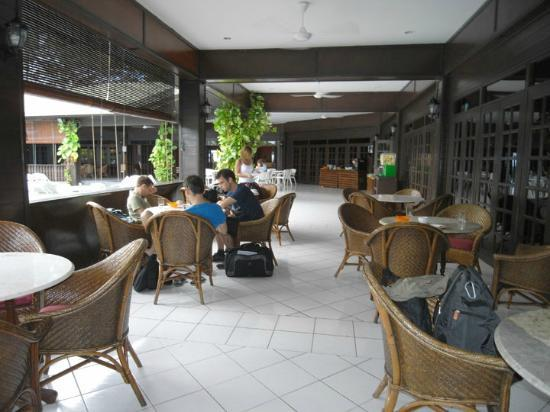 Avillion Layang Layang: Outside eating area