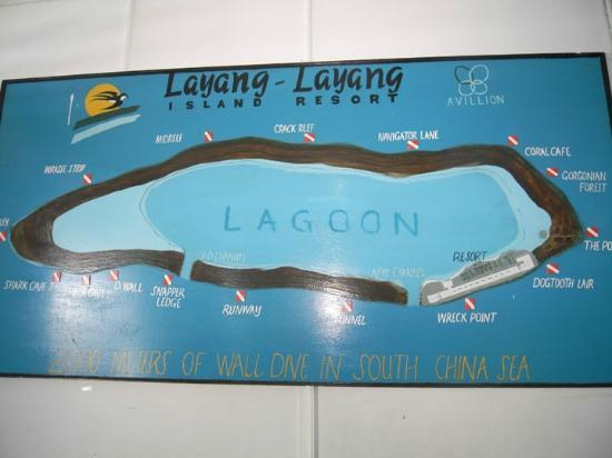 Layang Layang Island Resort: map of resort
