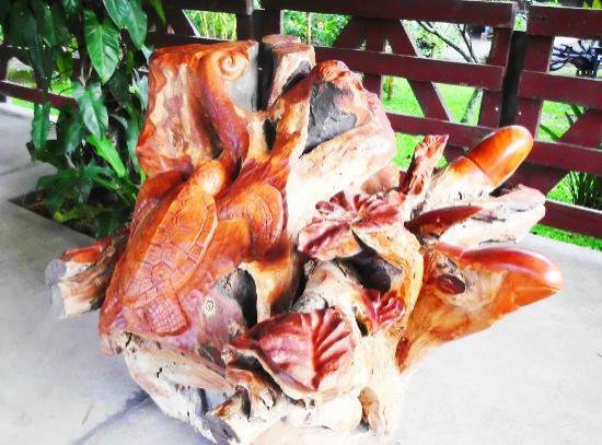 Sr y Sra Ese Factory Tour : Exotic Guanacaste Wood Sculpture of Gods Creative Hand