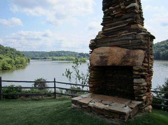 Historical fireplace picture of morgan falls overlook for Morgan falls