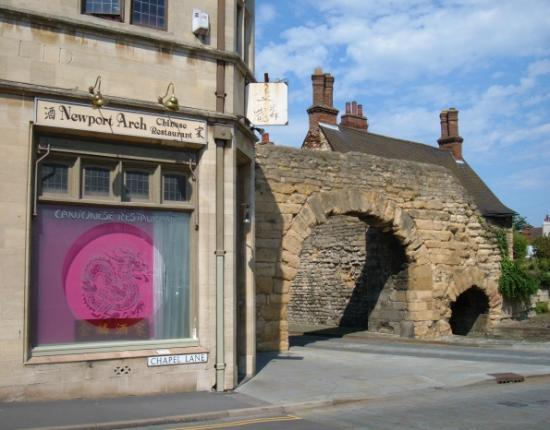 Newport Arch Chinese Restaurant and Newport Roman Arch