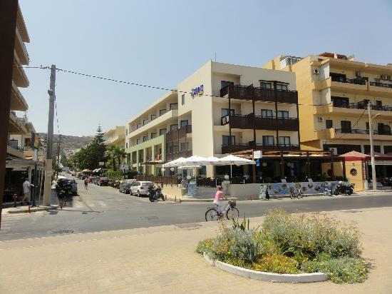 Steris Elegant Beach Hotel Apartment: From over the road