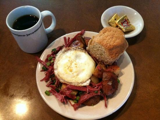 The Bluegrass Grill & Bakery: Corn Beef Hash, Biscuit and Coffee