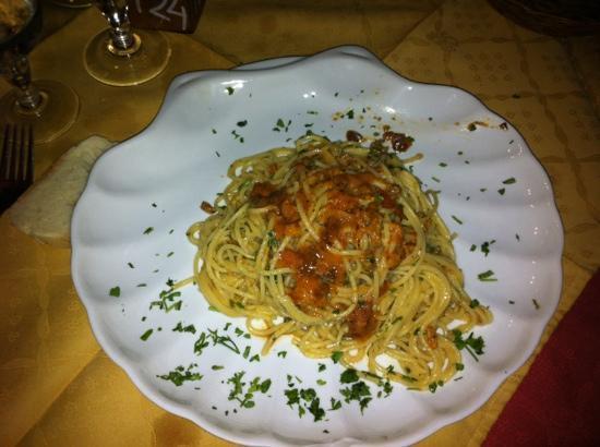 Trattoria del Porto : spaghetti ai ricci