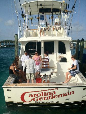 Bimini Big Game Club Resort & Marina: A great day out on the Carolina Gentleman! He can take you down to Honeymoon Beach, too