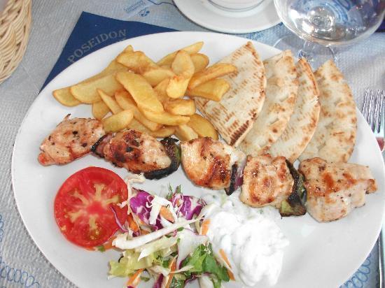 Restaurant Poseidon : Chicken souvlaki
