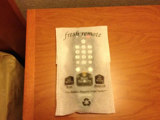 BEST WESTERN De Anza Inn: Fresh remote!  (cool!)