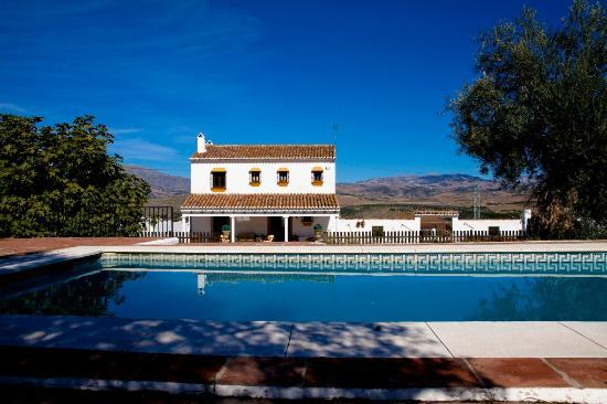 Hacienda el Lirio: Piscina y Casa